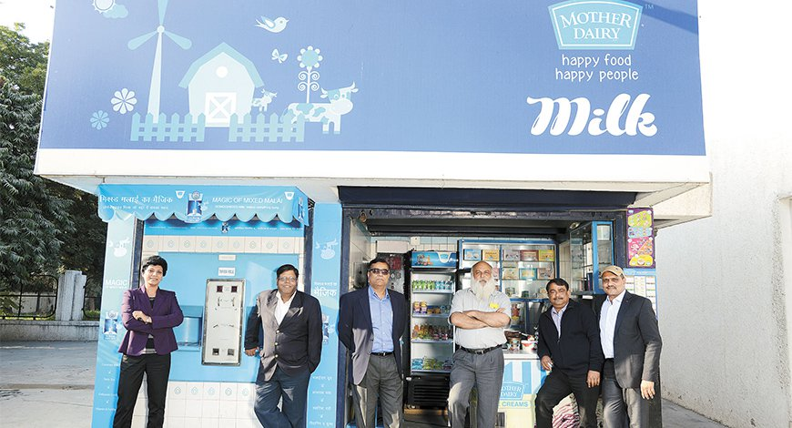 Mother Dairy Milk Booths and Fruit and Vegetable
