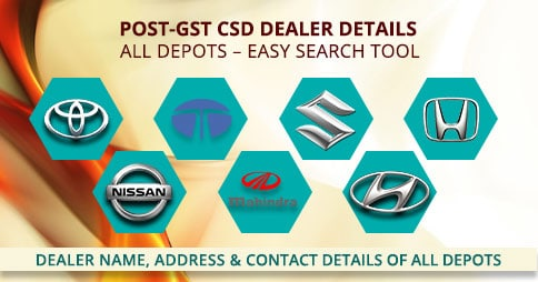Post GST CSD Canteen Dealers contact