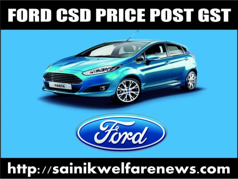 Ford Car CSD price