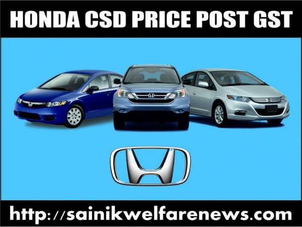 Honda Cars CSD Price