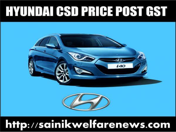 Hyundai Cars CSD Price