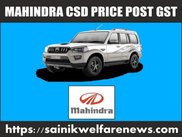 Mahindra Cars CSD Price