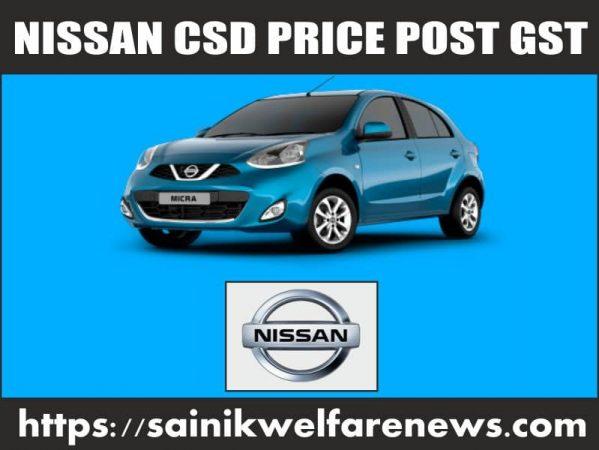 Nissan Cars CSD Price