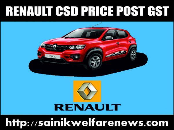 Renault Cars CSD Price