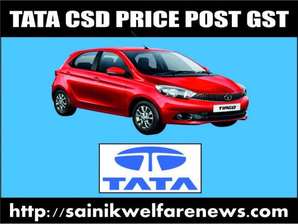 TATA Car CSD price