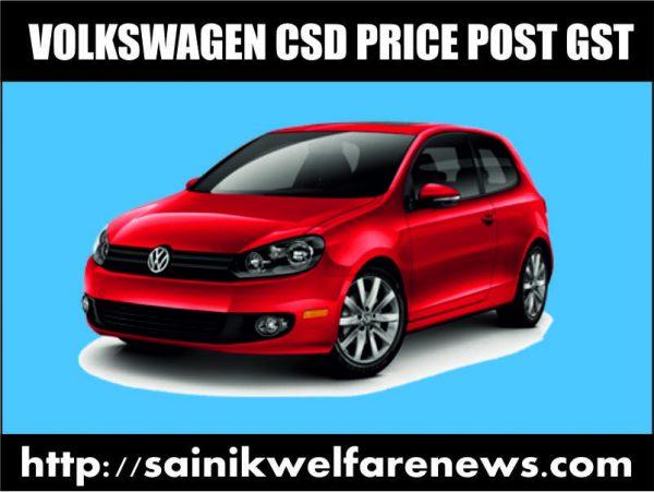 Volkswagen Car CSD Price