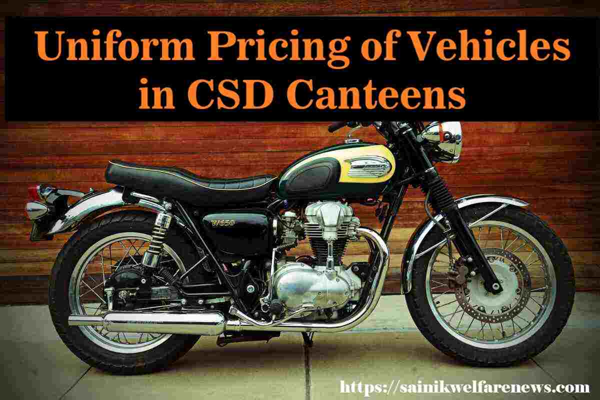 Uniform Pricing of Vehicles in CSD Canteens