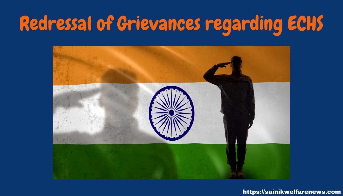 Redressal of Grievances regarding ECHS